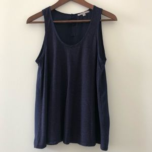 Gap navy tank with back buttons size small